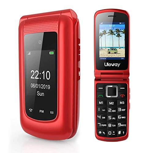 3G Sim Free Flip Phone Unlocked Dual Sim Clamshell Mobile Phone Senior Big...