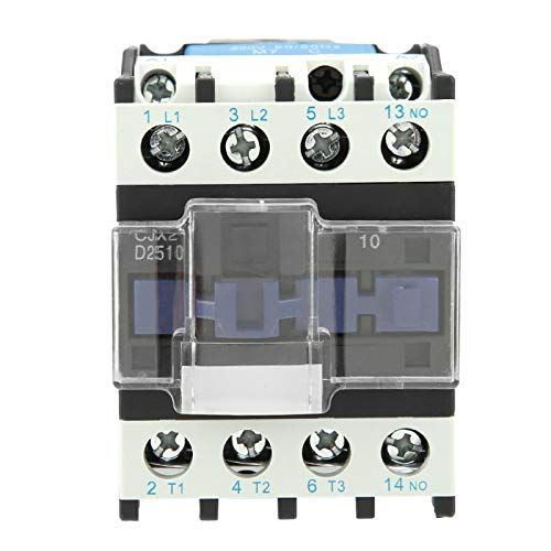 Contactor de CA de servicio pesado de bobina normalmente cerrada, Contactor de CA eléctrico industrial de alta sensibilidad CJX2-2510 220 V 25 A
