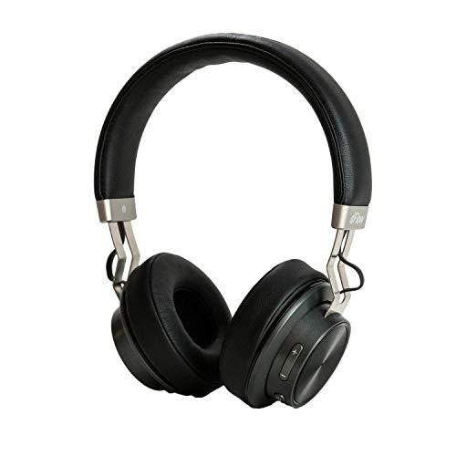 Auriculares Inalámbricos Bluetooth dFlow One, 14 Horas de batería, Auriculares con micrófono, Auriculares de Diadema, Sonido Deep Bass, Acabados en Piel Sintética y Aluminio