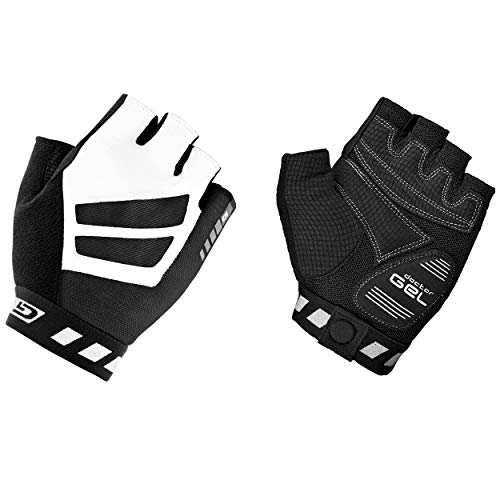GripGrab WorldCup Gel-Padded Fingerless Road Bike Cycling Gloves - Cushioned Breathable Aero Summer Short Half Finger