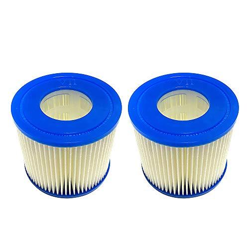 RASHION Summer Waves Pool Papie - Cartucho de filtro de cartucho de papel tipo D (2 unidades)