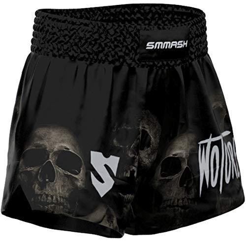 SMMASH Wotore Spirit Muay Thai Shorts Herren, Kurz Hosen für Thaiboxen, Kickbox, Boxing, K1, Muay Thai Short mit Elastischem Bund, Perfekte Passform für Kampfsport, Hergestellt in der EU (L)