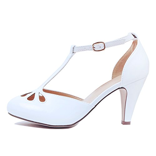 Top 10 best selling list for white t strap character shoes