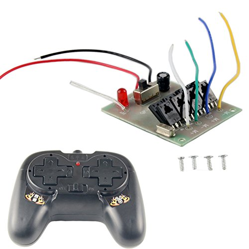 Delinx 4 Channel 2.4Ghz Wireless RC Remote Receiver Controller for DIY Boat Car Ship Toy Robot Modle