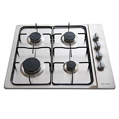 Plaque de cuisson gaz 4 feux Inox, BELDEKO - gaz de...