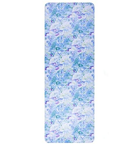 Estera de yoga de gamuza estampada SBS floral suave de alta resiliencia alfombra de yoga antideslizante húmeda y seca estera de fitness estera de piso de alta densidad resistente al desgarro estera
