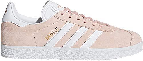 adidas Gazelle Mens Bb5472 Vappnk, White, Goldmt Sz 10.5M