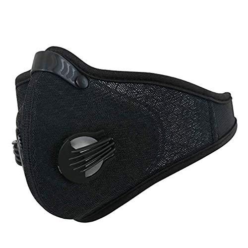 AGKupel Sport Dust Mask Motocycle Mesh Cover Dust Mask Half Face Bike Mask for Outdoor Activities (Black)