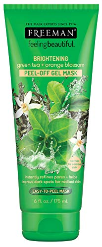 Freeman Facial Gree Tea+Orange Blossom Peel-Off Gel Mask 6 Ounce (175ml)