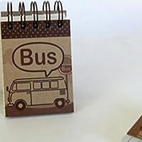 Mini Spiral Notebook–バス