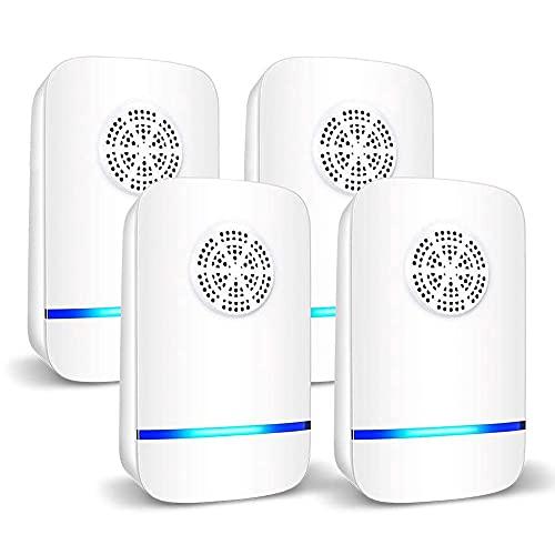 Ventdest Repellente ad Ultrasuoni [4 Pack], Repellente Ultrasuoni Anti Zanzare Dispositivi Antizanzare Insetti Ragni Topi Mosche Parassiti Ratti Scarafaggi Formiche