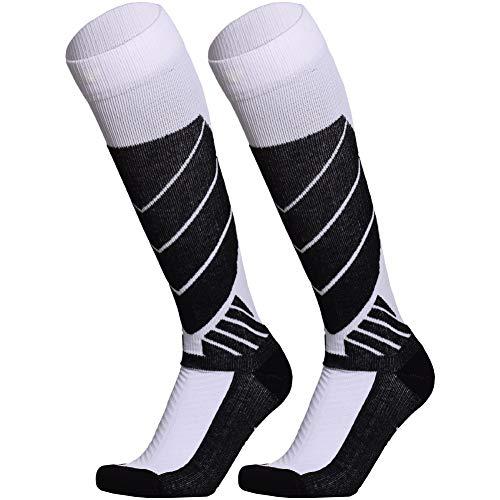 Unisex Thermal Socks Winter Warm Outdoor Sports Long Ski Socks Black M