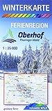 Winterkarte Ferienregion Oberhof: Aktive Erholung am Rennsteig. Maßstab 1:35.000.