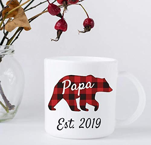 Coffee Super Special SALE held Mug - Papa Bear 67% OFF of fixed price 2019 Plaid Father's Buffalo Prese Day