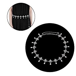 Style-6 Metal With Rhinestone Hip Chain