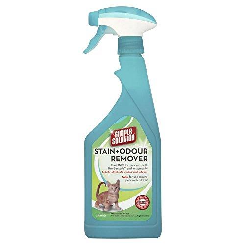 simple solution Flecken- und Geruchsentferner für Katzen, 750 ml