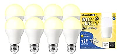 Miracle LED Brightest 60 Watt Equivalent A19 60W Household Replacement Light Bulb, Soft White, 8 Pack (604998)