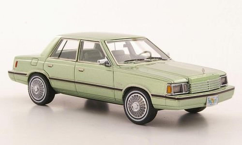 Dodge Aries (K-Car), met.-hellgrün, 1983, Modellauto, Fertigmodell, Neo 1 43