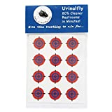 Urinal Fly Toilet Stickers, 12 Pack, Red/Blue Targets, 80% Cleaner Bathrooms in Minutes!