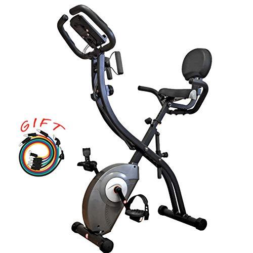 YQYJX Bicicleta Estática Multifunción, Bicicleta Estática con Cable De Tracción, Sueño/Frecuencia Cardíaca/Velocidad/Distancia/Calorías, Resistencia Ajustable