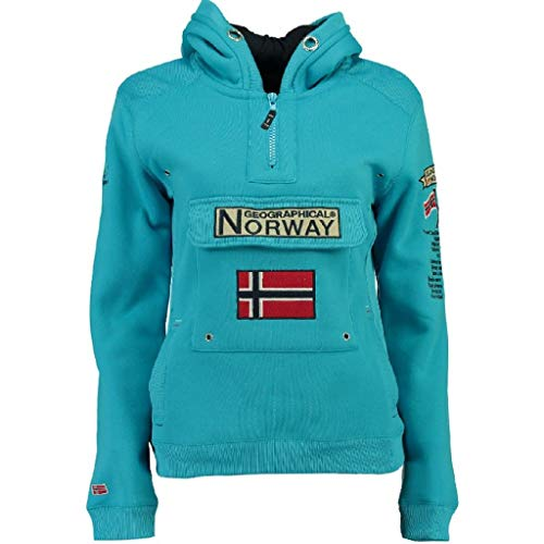 Geographical Norway Sudadera DE Mujer GYMCLASS Azul Cielo L