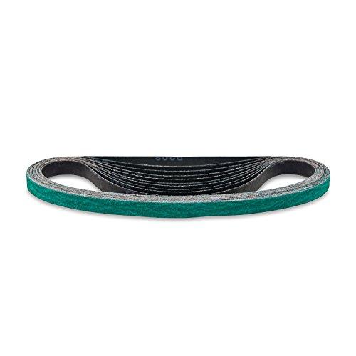 Red Label Abrasives 1/2 X 18 Inch 36 Grit Zirconia File Sanding Belts, 10 Pack