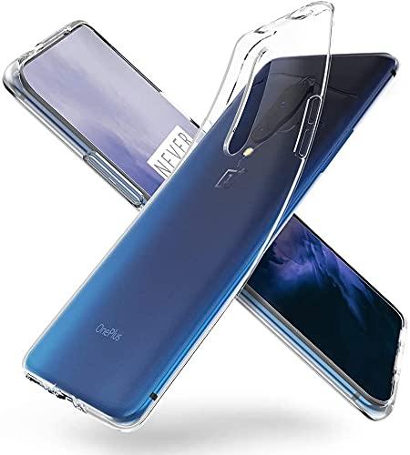 Bravoday Hülle für OnePlus 7 Pro/OnePlus 7T Pro, Silikon Gel TPU Schutzhülle Kratzfeste Shockproof Hülle Handyhülle für OnePlus 7 Pro/OnePlus 7T Pro, Transparent