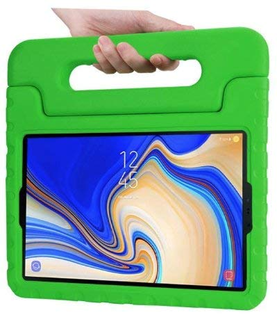 Case for Samsung Galaxy Tab S4 10.5 - Light Weight Shock Proof Convertible Handle Stand - Kids Friendly Cover - Green