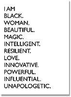 私は黒人の引用キャンバス絵画黒人白人アフリカ系アメリカ人女性のポスターとプリントリビングルームの装飾のための北欧の壁アート写真40x60cmフレームなし
