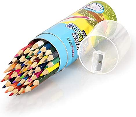 Deli 36 Pack Colored Pencils with Built in Sharpener in Tube Cap Vibrant Color Presharpened product image