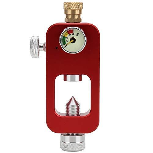 Ever Adaptador de Buceo con oxígeno, Adaptador de Buceo DEDEPU Conector de Botella de oxígeno de 8 mm con manómetro para Equipo de Buceo bajo el Agua(Rojo)