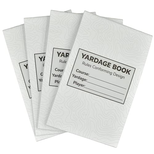 Score Snapshot - Golf Yardage Books (4 Pack) - 4 inches x 6.5 inches - Fit Most Scorecard Holders and Yardage Book Covers - Rules Conforming - Golf Tournament Yardage Books