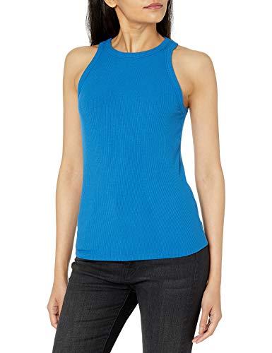 Marca Amazon - Valerie Camiseta sin Mangas en Punto de Canalé de Cuello Cerrado con Espalda de Nadadora por The Drop