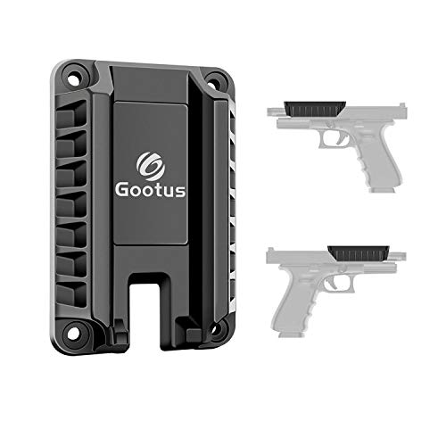 Gootus Magnetic Gun Mount Holster - Tactical Magnet Concealed Holder for Car Truck Wall Home Office...
