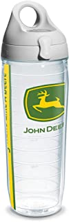 Tervis 1131082 John Deere Colossal Tumbler with Wrap and Gray Lid 24oz Water Bottle, Clear