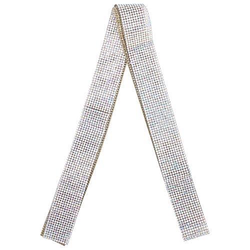 Okuyonic Cinturón de Diamantes de Cristal con Adhesivo, viscosidad Fuerte Cinturón de...