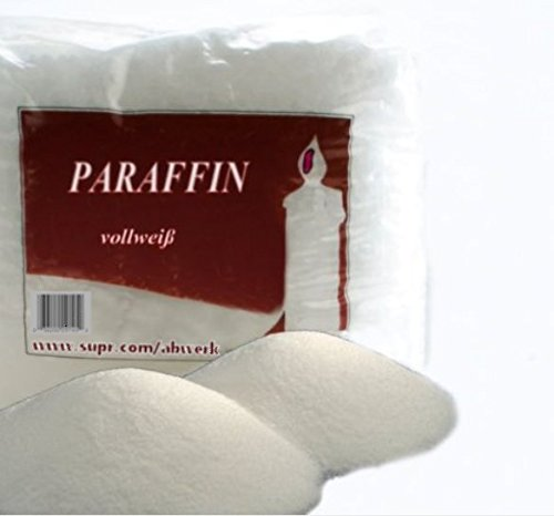 5 kg Paraffin Kerzenwachs vollraffiniert Weiß Wachsbad geruchlos Granulat 56 C°