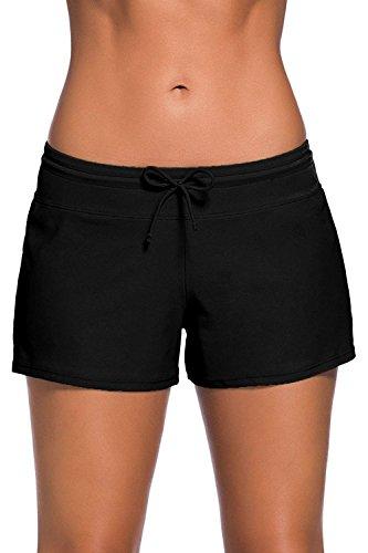 Socluer Damen Schwimmen Strand Rock Badeshorts Bikinihose Beach Shorts Hotpants