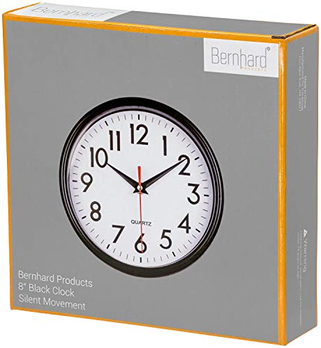 Bernhard Products - Black Wall Clock 8