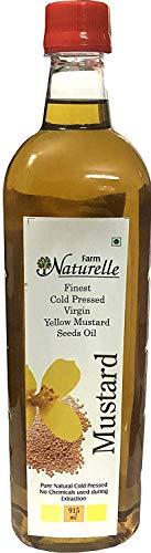 Kachi Ghani Mustard (Yellow Seed) Oil (Virgin Cold Pressed) - 915 ML (30.93 OZ) - Certified