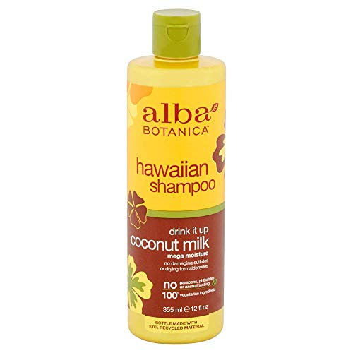 ALBA Botanica: natur Hawaiian Shampoo Drink It Up Coconut Milk, 12 oz (8 Pack)