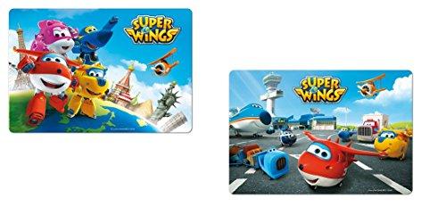 Set dessous de table bureau 3D Super Wings - Repas enfant - ALEATOIRE - 382