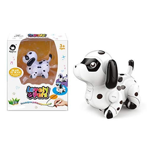 Gebuter Educational Pen Inductive Toy Follow Any Drawn Line Cute Dog Gift for Children Kids Mini Magic Inductive Robot Toy Follow Black Line with Educational Toys for Kids Gift