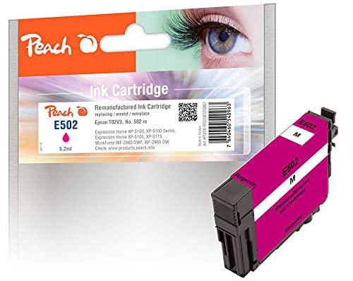 Peach Cartucho de Tinta Magenta Compatible con Epson No. 502M, C13T02V34010