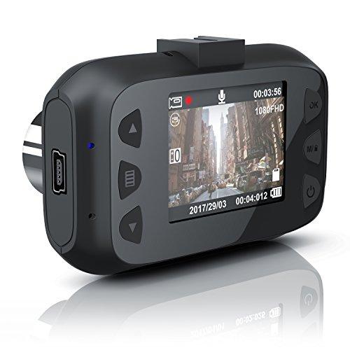 CSL - Dashcam Autokamera Full HD - KFZ Unfallkamera Car Dash Cam - Loop Recording - G-Sensor - Foto- und TV-Modus - 150 Grad Weitwinkelobjektiv - Full HD 1080p - TFT LCD Display