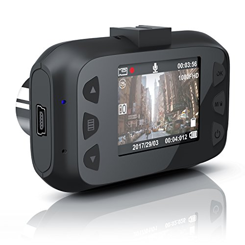 CSL - Dashcam Autokamera Full HD - KFZ Unfallkamera Car Dash Cam - Loop Recording - G-Sensor - Foto- und TV-Modus - 150 Grad Weitwinkelobjektiv - Full HD 1080p - TFT LCD Display