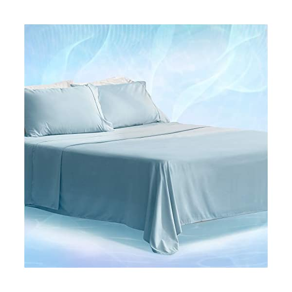 SLEEP ZONE Bed Sheet Set Unifi Repreve Recycle Microfiber Bedding Sheets Ultra Soft...