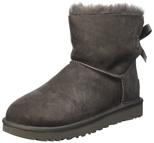 UGG Damen Mini Bailey Bow Ii Schlupfstiefel, Grau (Grey), 40 EU (7 UK)