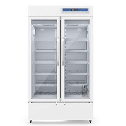 Jackscool 725L Upright 2-Door Display Beverage Cooler Merchandiser Refrigerator,Medical Fridge & Lab Refrigerator