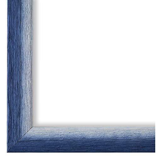 Online Galerie Bingold Bilderrahmen Blau Weiß 40 x 60 cm 40x60 - Modern, Shabby, Vintage - Alle Größen - handgefertigt - WRF - Pinerolo 2,3
